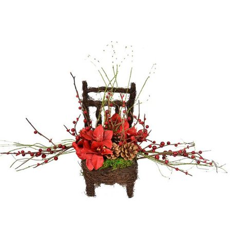 The Holiday Aisle Amaryllis Chair Mixed Floral Arrangement