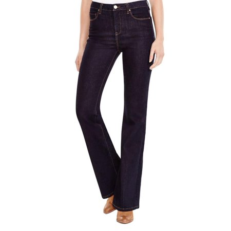 Blank NYC Womens Dark Wash Classic-Rise Flare Jeans