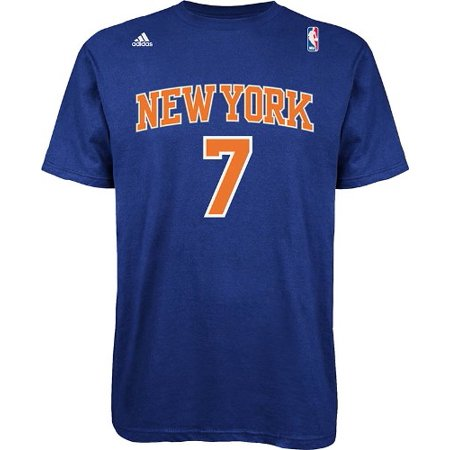 Carmelo Anthony New York Knicks Nba Adidas Player T Shirt   Blue