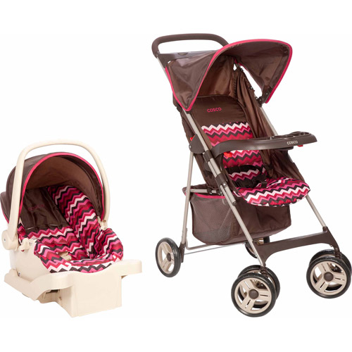 Cosco Commuter Compact Travel System, Chevron Raspberry