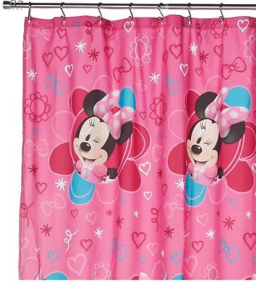 Disney Minnie Mouse Fabric Shower Curtain - 'Fucshia Hear...