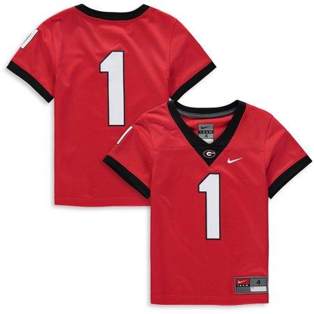 newest 34d21 2d6a7 #1 Georgia Bulldogs Nike Preschool Team Replica Football Jersey - Red