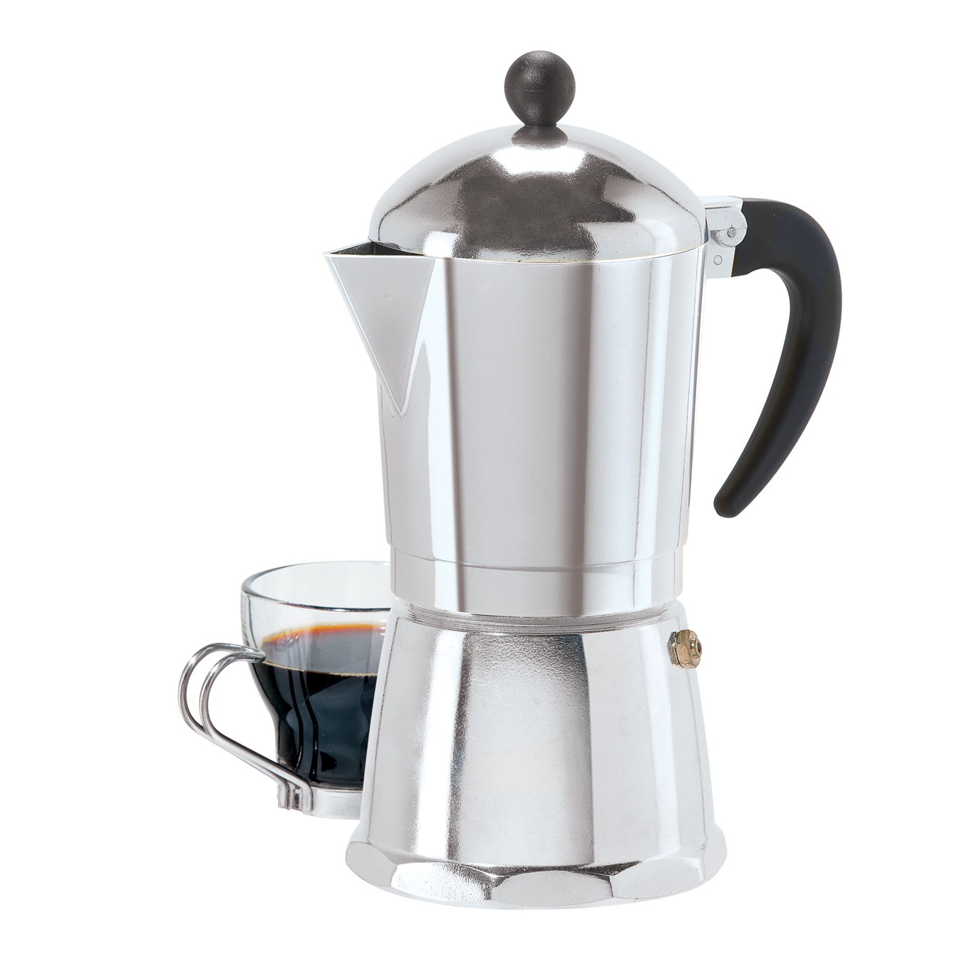 6 Cup Cast Aluminum Stovetop Espresso Maker (355ML. 12Oz.) by OGGI