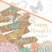 """Kaisercolour Perfect Bound Coloring Book 9.75""""X9.75""""-Happy Thoughts"""