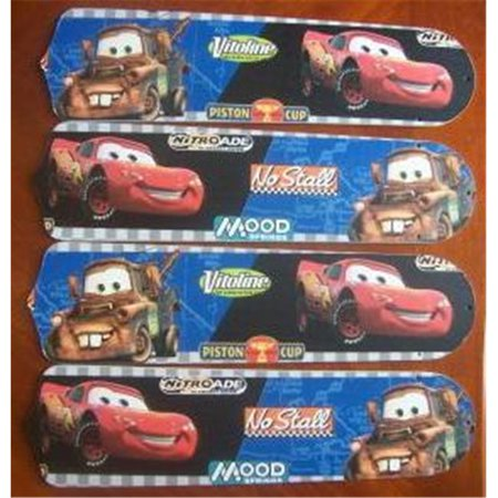 Ceiling Fan Designers 42SET-DIS-CLMM Cars Lightning Mcqueen Mater 42 in. Ceiling Fan Blades Only