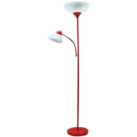 Mainstays combo floor lamp red walmartcom for Mainstays floor lamp with table walmart
