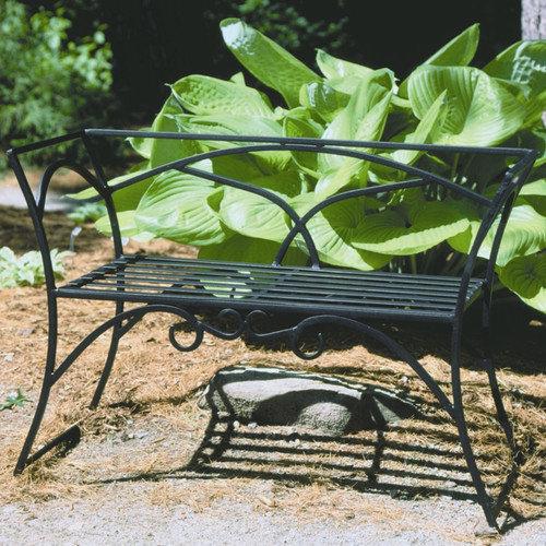 Achla Arbor Wrought Iron Garden Bench