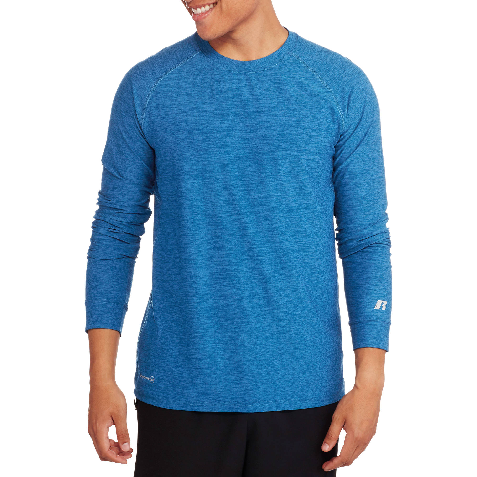 Russell Big Men's Long Sleeve Sueded Performance Tee
