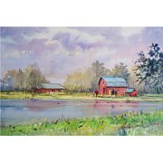 "Trademark Art ""View from the Millpond"" Canvas Art by Ryan Radke"