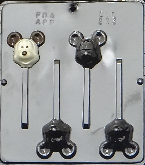 Click here to buy 233 Mouse Head Lollipop Chocolate Candy Mold.