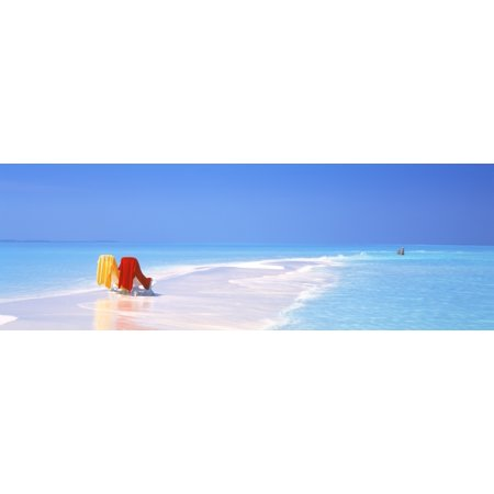 Beach Scenic The Maldives Poster Print
