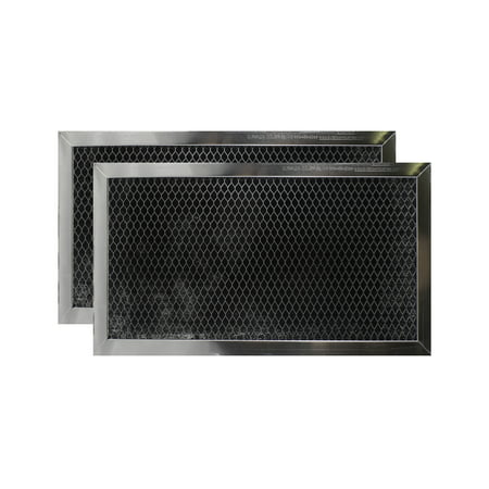 2 PACK WB2X9883 JX81A CF2888 GE Microwave Charcoal Carbon Filter Replacements by Air Filter Factory ()