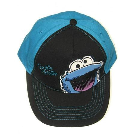 Cookie Monster Hat (Cookie Monster Face Logo Big Eyes Blue Sesame Street TV Boys Baseball Cap Coppertone UPF 50+ UV Protection Sun Hat)