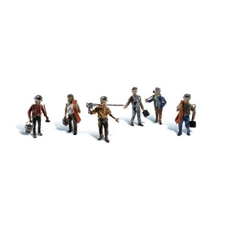 People Ho Scale (HO Scale Scenic Accents Figures/People Set Miners (6), Model Railroading Supplies By Woodland Scenics )