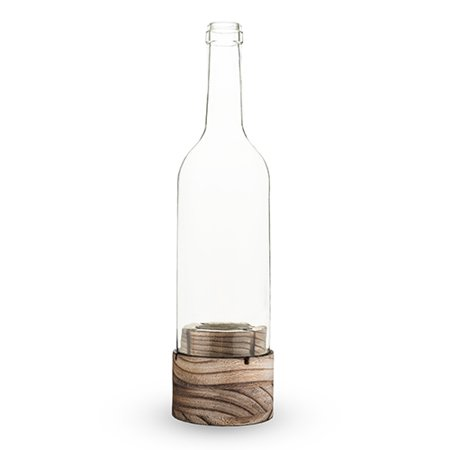 Flicker™: Bottle Shaped Candle Holder