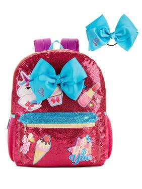 jojo siwa just be you glitter backpack with jojo bow hair tie