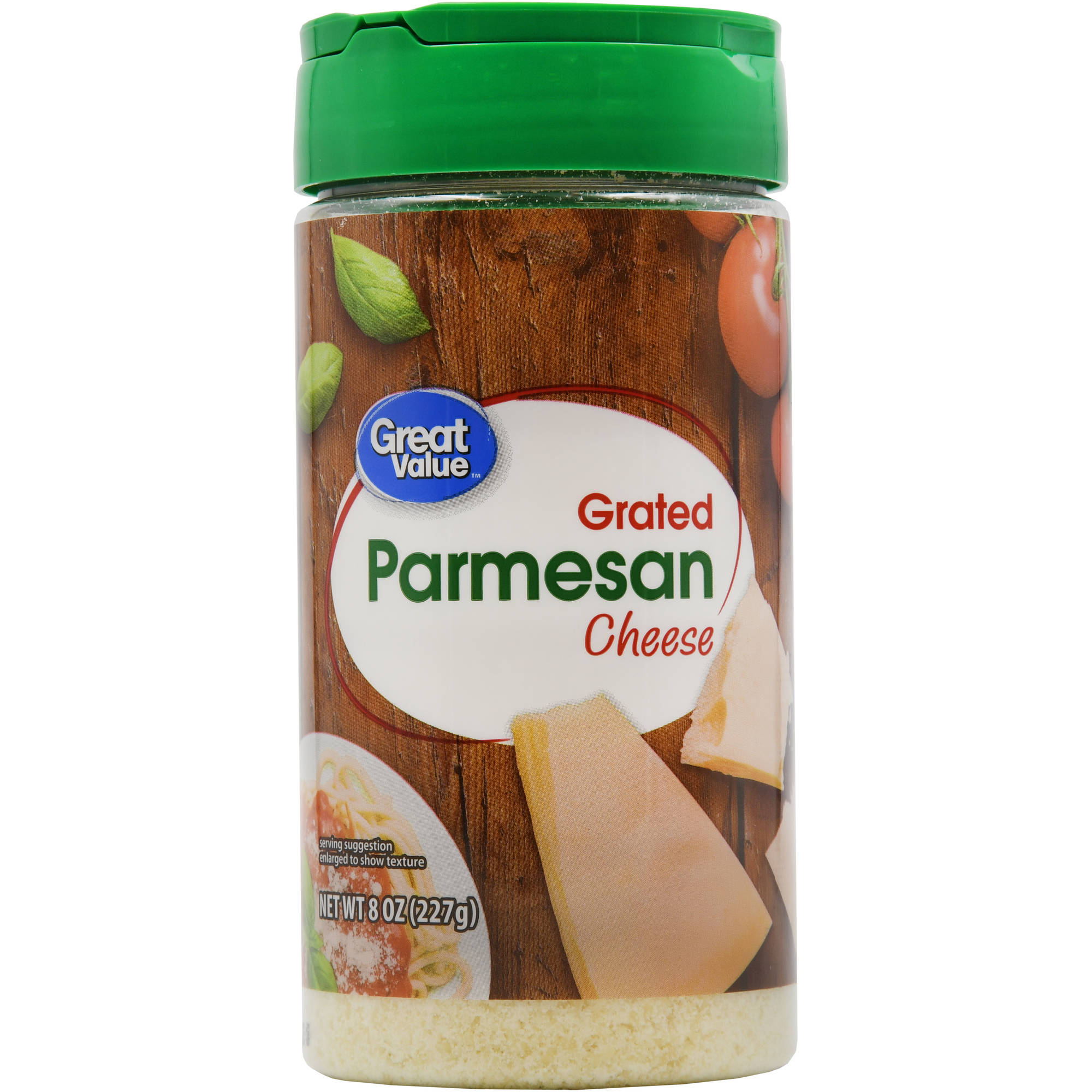 Great Value 100% Parmesan Grated Cheese, 8 oz