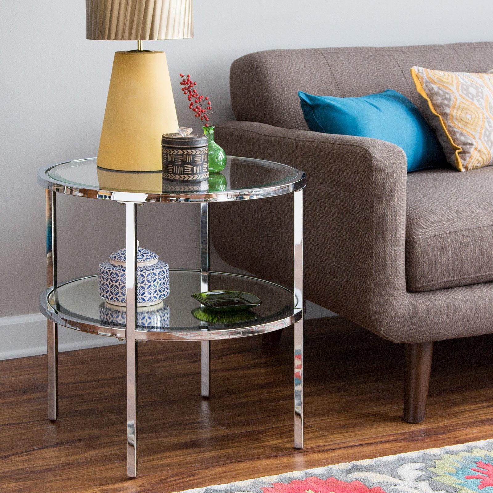 Belham Living Lamont Round End Table - Chrome