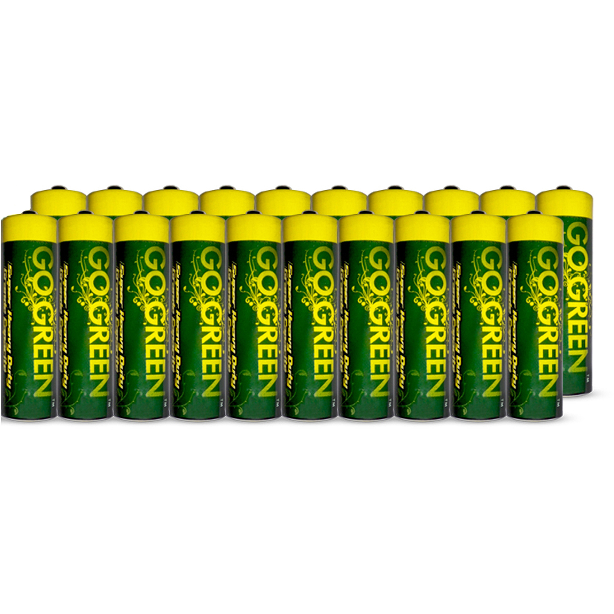 Go Green Heavy Duty AA Batteries, 20pk