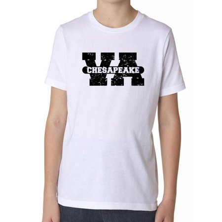 Chesapeake, Virginia VA Classic City State Sign Boy's Cotton Youth T-Shirt](Party City Chesapeake Va)