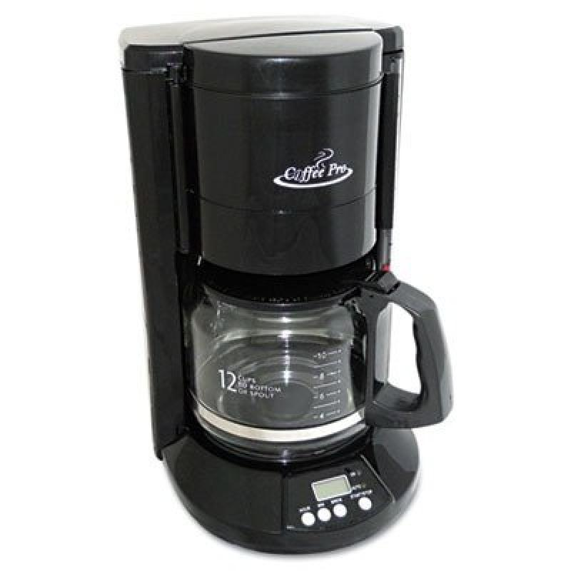 ORIGINAL GOURMET FOOD CO CP333B Home/Office 12-Cup Coffee Maker, Black
