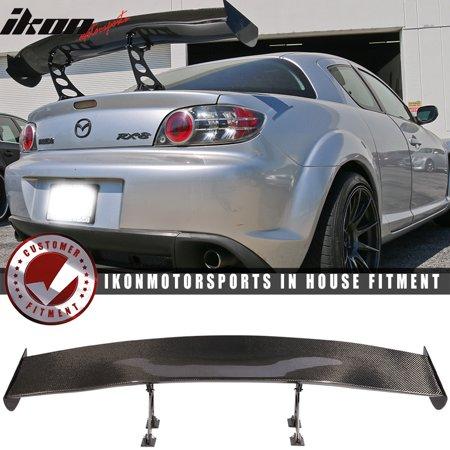56 In V6 Universal Adjustable Downforce GT Trunk Spoiler Wing - Carbon Fiber (Universal Carbon Fiber)