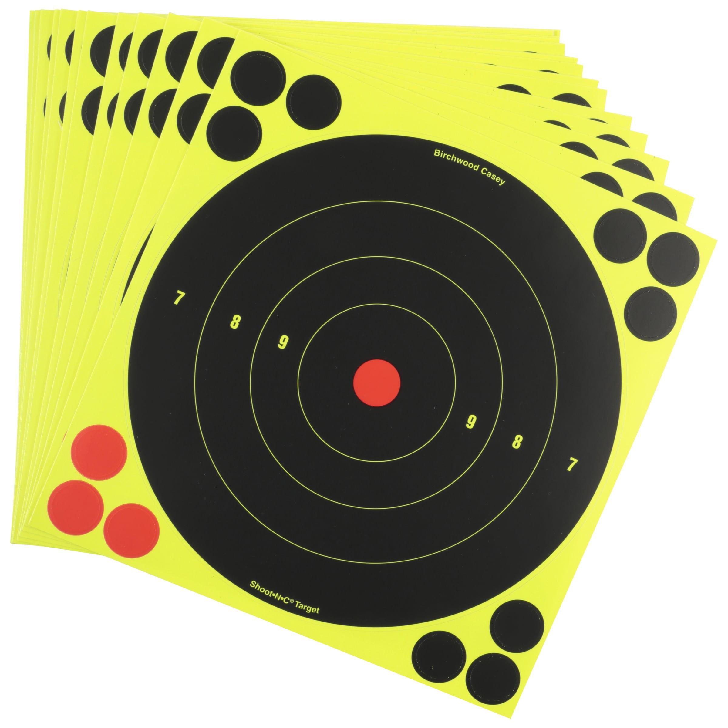 "Birchwood Casey Shoot-N-C Self Adhesive Bull's Eye 8"" Target, 30 Sheets Per Pack"