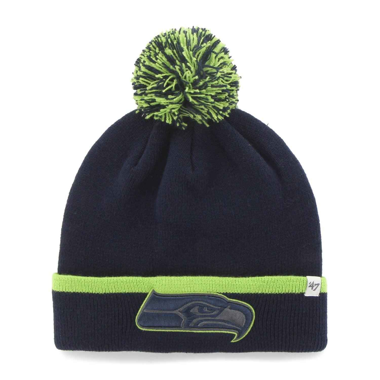 Seattle Seahawks Light Navy Baraka Cuffed Knit Hat by 47 Brand