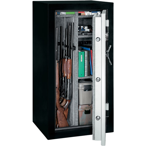 Stack-On 28 Gun Waterproof and Fire Resistant Security Safe with Combination Lock TD-28-SB-C Black/Silver