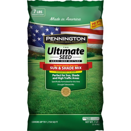 Image of Pennington Ultimate Sun and Shade Grass Seed South Mixture, 7 lb bag