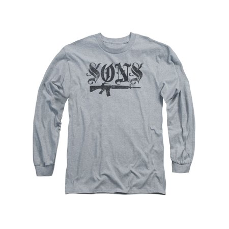 Sons of Anarchy TV Show Sons Tattoo Font Adult Long Sleeve T-Shirt Tee