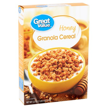 Great Value Honey Granola Cereal, 22 oz