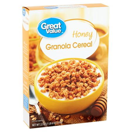 Great Value Honey Granola Cereal, 22 oz