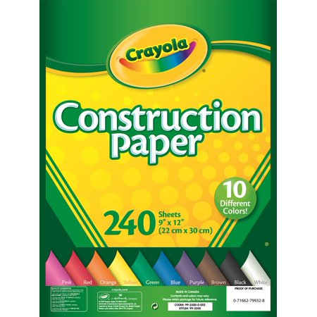 Crayola 240 Sheets Construction Paper $3.89 @Walmart online deal