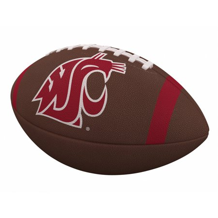 WA State Cougars Team Stripe Official-Size Composite Football