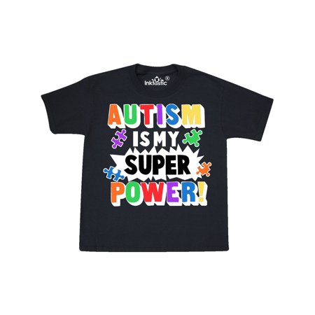 Autism is my Super Power with Puzzle Pieces Youth T-Shirt