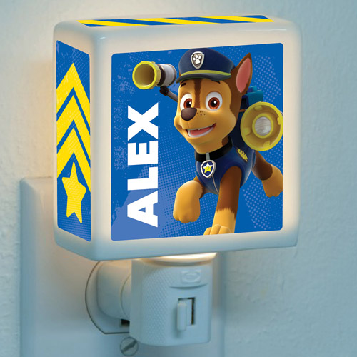 Personalized PAW Patrol Chase is on the Case Nightlight