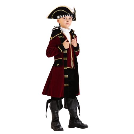 Red Captain Hook Jacket (Child Deluxe Captain Hook)