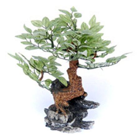 Penn Plax Bonsai Tree on Rock