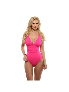 50da5270a65 Product Image La Blanca Pink Berry Cross Back Mio One Piece