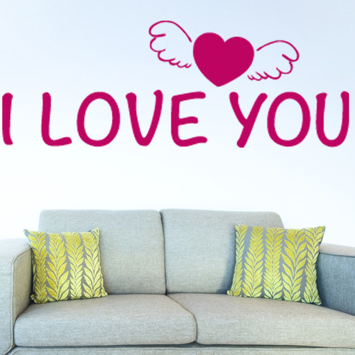 Style and Apply I Love You Wall Decal