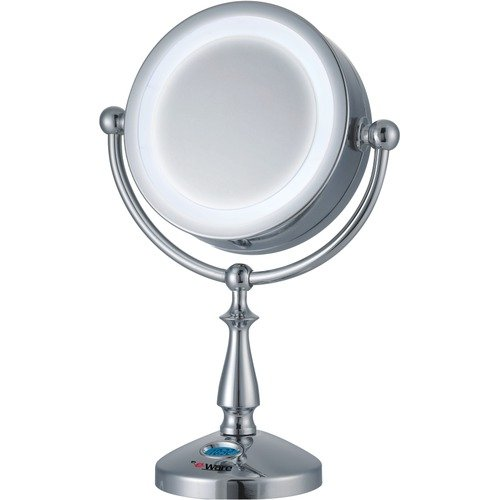 E-Ware 1x-10x 32 LED Lighted Touch Control Makeup Mirror and Clock