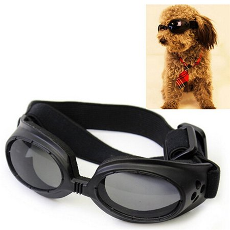 UV Protective Sunglasses for Puppy Dog Eye Protection Glasses with Adjustable Strap (Glasses With Eyes On Them)