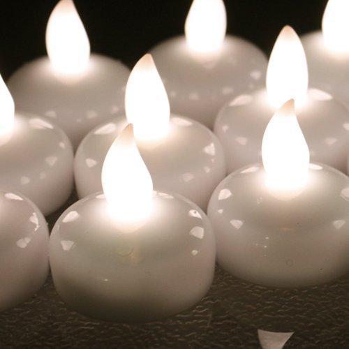 AGPtek_ Lot 12 LED Floating Tea Waterproof Wedding Party Floral Decoration Flameless Candle Warm White