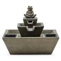 Deals on Belham Living Paradise Zen Frog Solar Outdoor Fountain