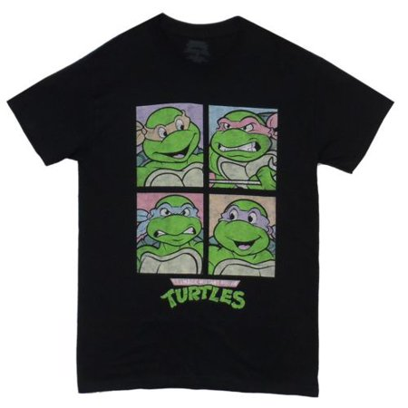 Faces Squares TMNT Adult T-Shirt - Tmnt Shirts For Adults