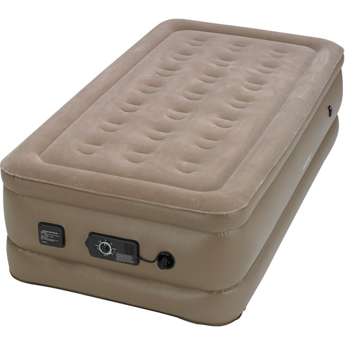Insta bed Raised Air Bed with NeverFlat AC Pump Twin