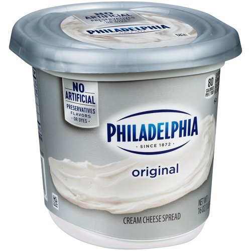 Philadelphia Regular Cream Cheese Spread, 16 oz