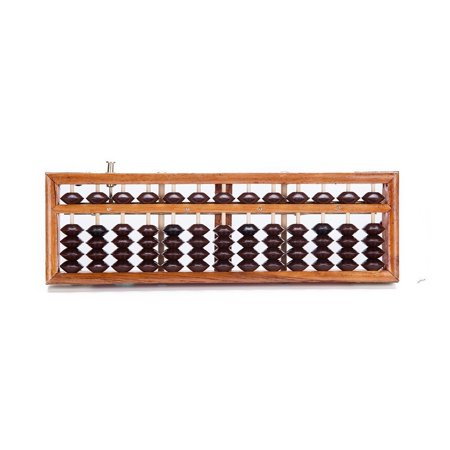 Vintage-Style 13 Rods Wooden Abacus Soroban Chinese Japanese Calculator Count...