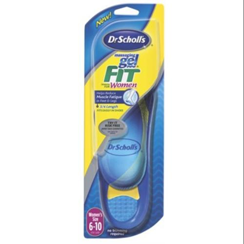 Dr. Scholl's Massaging Gel Fit Inserts Women's [size 6-10], 1 pair (Pack of 6)